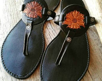 Handmade all leather sandals