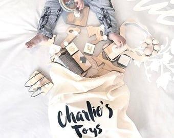 Personalised Toy Bag - Library School Kinder Preschool Daycare Bag