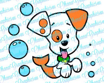 Bubble Guppies Inspired Bubble Puppy SVG