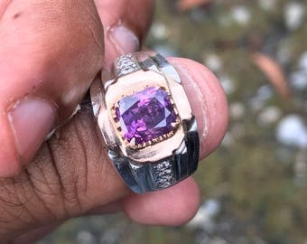 Natural unheated purple-red ruby ceylon 3.36ct certified