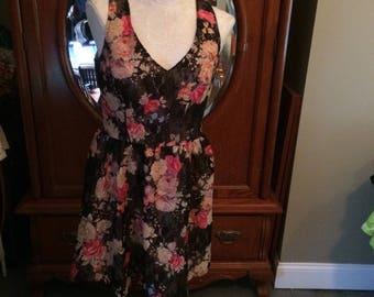American Rag Size Medium Flowered Lace Dress