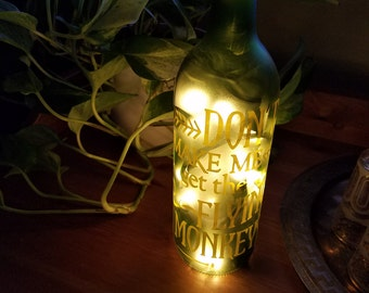 Don't Make MeGet the Flying Monkeys, Wine Bottle Lamp