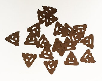 100 pieces - Brown Poop Emoji Poo Poo Confetti// Gag Gift, Birthday Party, iPhone, Bday, Craft Projects, Party Supply