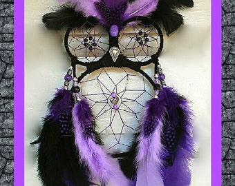 Personalized | Purple | Night Owl | Dreamcatcher | Owl Dreamcatcher | Owls