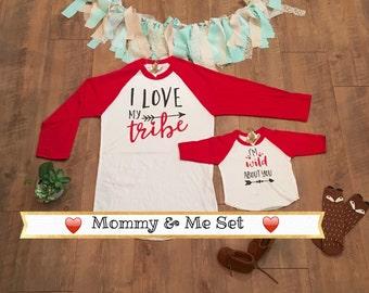 mommy me valentine etsy