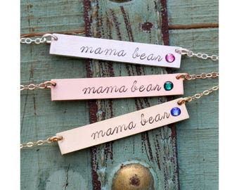 Mama Bear Necklace • Mommy Gift Mom Necklace Mother's Day Necklace • Birthstone Mommy Gift Mother Mama Bear Gift Christmas Present • BS_17