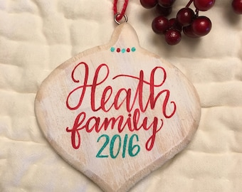 Personalized Wooden Christmas Ornament