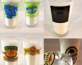 Beer Glass Candle: Nonic Pints and Tumblers - 4 styles/beers