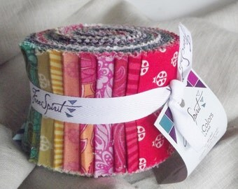 Free Spirit Jelly Roll - 20 fabric strips