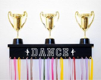 Dance Trophy Shelf Available in Multiple Colors, Dancing Trophy Shelf and Medal Holder, Dance Medal Holder, Gift For Dancer
