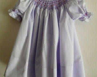 Hand Smocked baby dress- size 18 Months