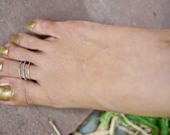Oxidized Silver Toe Ring, Women's Toe Ring, Fashion Jewelry, Minimalist Silver Jewelry, Boho Style, Body Jewelry, Delicate Toe Ring, (TS3)