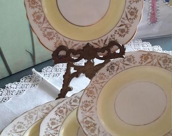 Gorgeous gold chintz and lemon vintage balfour side plates