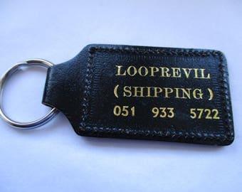 Vintage Looprevil Shipping Key Ring, Looprevil Keychain, Pocket Keychain, Key Ring, Key Fob