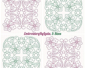 Quilt Blocks Embroidery Pattern,  Machine Embroidery Design, Instant download