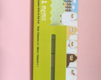 Alpaca Stationery / Alpaca Sticky Notes / Animal Sticky Notes / Cute Sticky Notes / Kawaii Stationary / Office Supplies /  Farm Animals