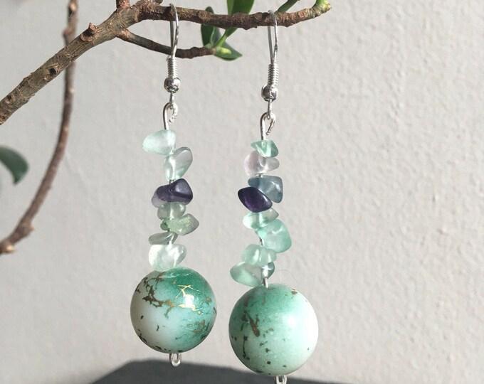 Handmade earrings with Green Fluorite - for the woodland wanderer