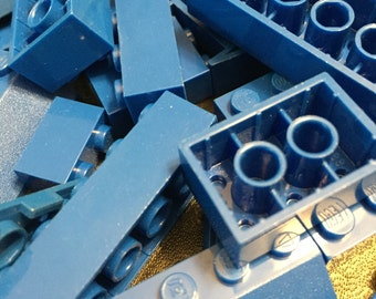 1000+ Blue Lego Brick Pieces!!! Free Minifigure!!! Star Wars, Harry Potter, City, Castle, Space, Marvel, and Pirate Pieces! Birthday Craft I