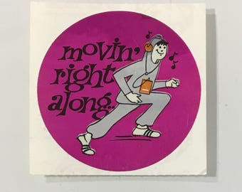 Vintsge Rare Sandylion Mylar 80's Sticker