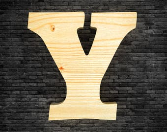 Wood - Y letters