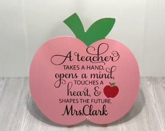 Personalized Teacher Appreciation Plaque/Personalized Teacher Appreciation Sign/Personalized Teacher Sign