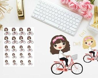 Bike girl Planner Sticker