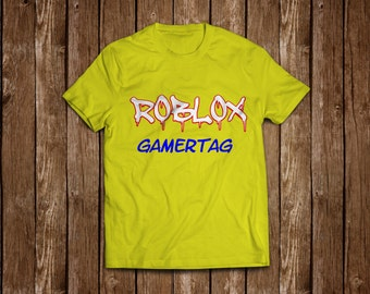 """Unofficial ROBLOX """"grafitti"""" personalised T-shirt"""