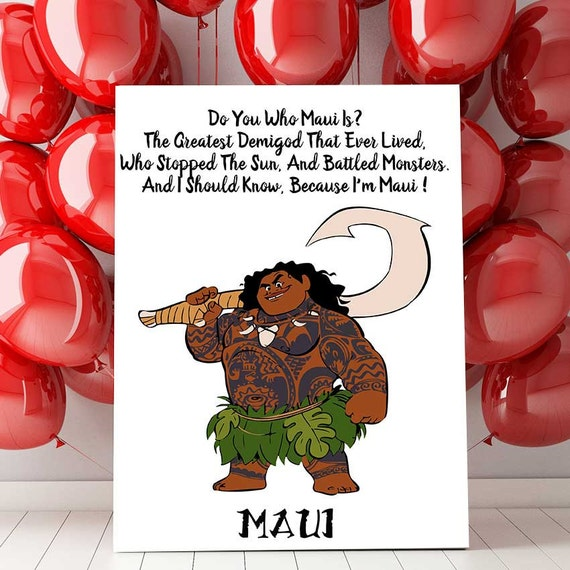 Disney Moana Maui Printable Wall Quote