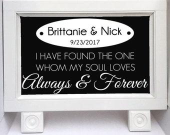 Wedding Sign - Wedding Established Sign - Wedding Gift - Chalkboard Sign - Wedding Signs - Wedding Chalkboard - Custom Chalkboard - Standing