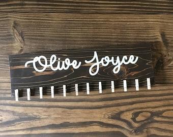 HEADBAND HOLDER Wood Sign|| Name Wood Pallet Sign|| Baby Girl Sign|| Nursery Sign|| Girls Room Sign