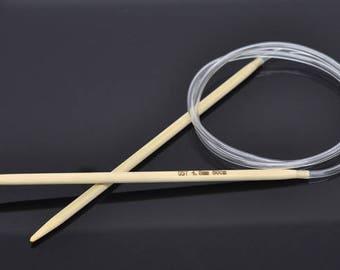 80cm circular knitting needles made of bamboo 3.5