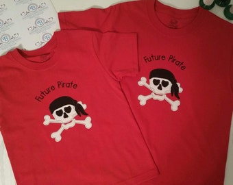 Future Pirate Shirt, Boys Pirate, Gasparilla, Skull and Crossbone, Pirate Festival