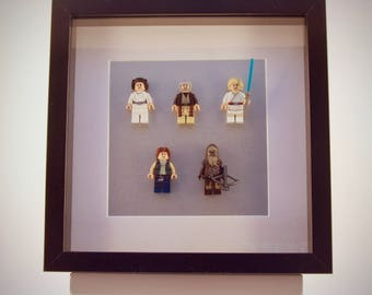 Star Wars mini Figures framed picture 25 by 25 cm