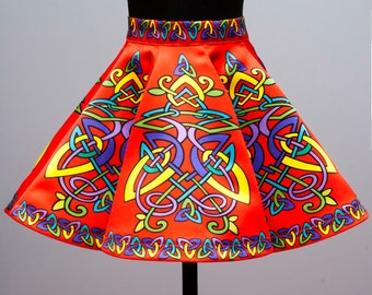 Irish Dance/Skirt/ European Style/Personal Skirt For Irish Dancing/Practice And Competitions/Celtic/Red