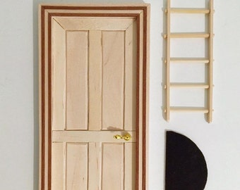 Door mouse Pérez unpainted, to customize to your liking, do it yourself, tooth fairy door, do it yourself, tooth fairy