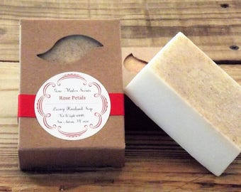 Rose Petals Scented Luxury Handmade Soap 6.5 oz. Bar