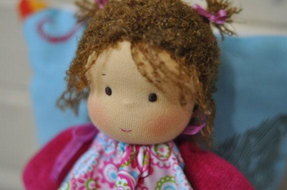 Tessile Waldorf bambola bambino Toffee 20cm 787 MADE di MumiDolls