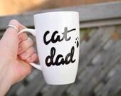 """Cat Mug """"Cat Dad&quo..."""