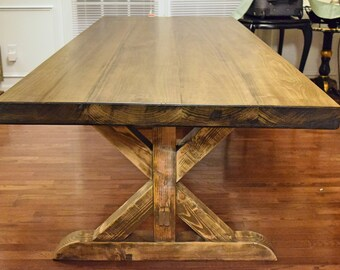 Thick Top Farmhouse Table (X-Style)