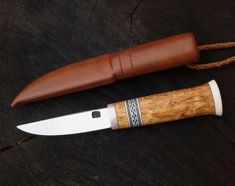 Puukko with engraved ring
