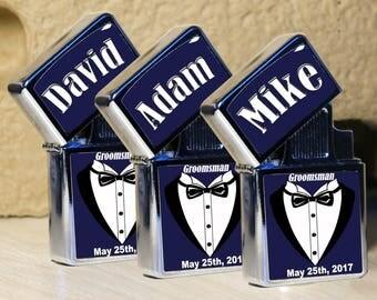 5 set Groomsmen lighter, best men gifts, wedding lighter, Personalized lighter, wind proof lighter, Groomsmen Gifts, Customized lighters,