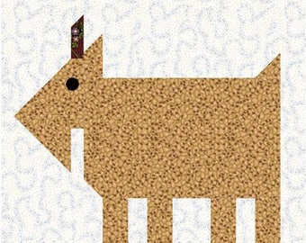 Patch Goat - Another in my series of Patch Animal quilt blocks