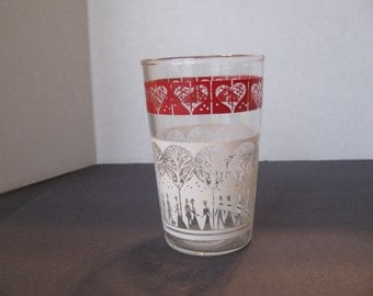 Vintage Victorian themed juice glass