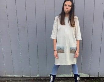 the little linen dress | •taketomijima• pocket | artist series | jordan stong | S/M
