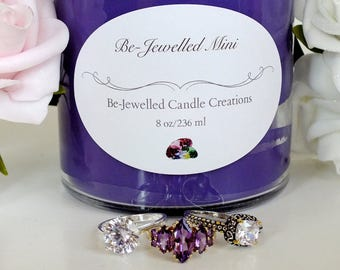 Jewelry Candle w/STERLING SILVER or GOLD - 100% Soy Candle