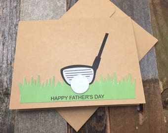 Happy Father's Day Card, Father's Day Card, Dad's Day Card, Happy Father's Day, Happy Father's Day Golf Card, Father's Day Golf Card