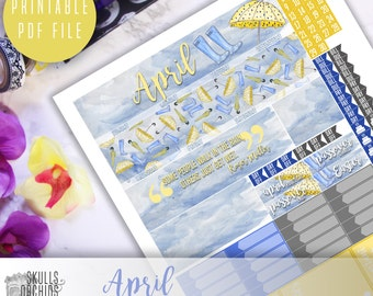50% OFF! ERIN CONDREN April Monthly View Kit – Printable Planner Stickers