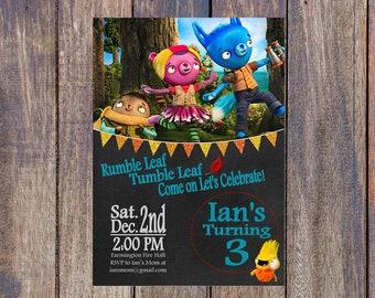Tumble Leaf Birthday Invitation - Tumble Leaf Digital Print - Personalized