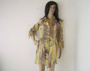 Vintage lane blouse dress blouse mini dress BIBA S / m