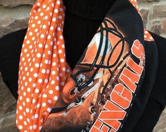 Cincinnati Bengals - Infinity Upcycled T shirt Scarf - Double Loop - NFL